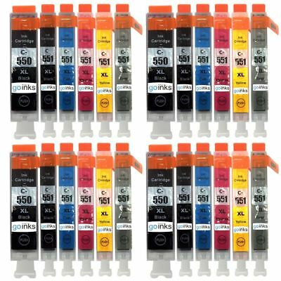 24 Ink Cartridges to replace Canon PGI-550 & CLI-551 (4x Set of 6) Compatible