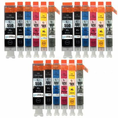 18 Ink Cartridges to replace Canon PGI-550 & CLI-551 (3x Set of 6) Compatible