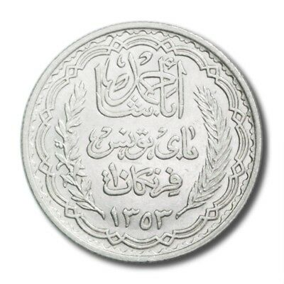 Tunisia Period OF French Occupation About Unc AH 1353 1934 10 Francs KM 262