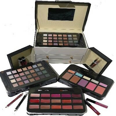Exclusive Large Kosmetik Make-up Kunstleder Beautycase SCHMINKKOFFER 60 tlg -023