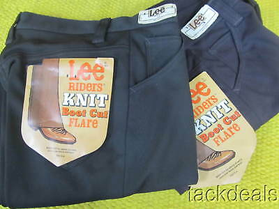 New Lot of 2 Mens Vintage Lee Brown Flare Leg Jeans Trousers 29x30