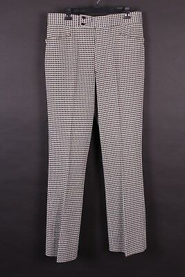 Vtg 70S Houndstooth Polyester Golf Pants Slacks Mens Size 35X33