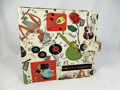 "Beautiful 50´s design 7 inch record wallet / Schallplatten Mappe "" Musik "" 09922"