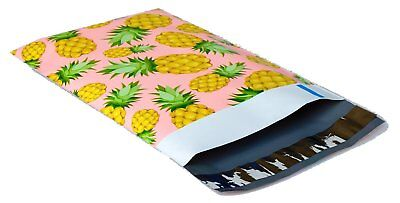 200 6x9 Pink & Yellow Pineapple #SmileMail Designer Poly Mailers Envelopes Bags