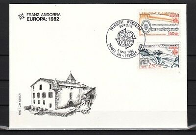 Andorra, Fr, Scott cat. 294-295. Europa issue. First day cover.