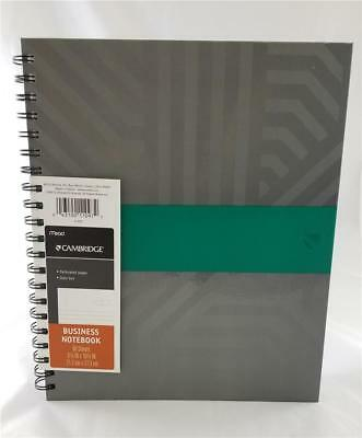 """Cambridge Hardcover Business Spiral Notebook, 8-3/8"""" x 10-3/4"""", 80 Sheets, Gray"""