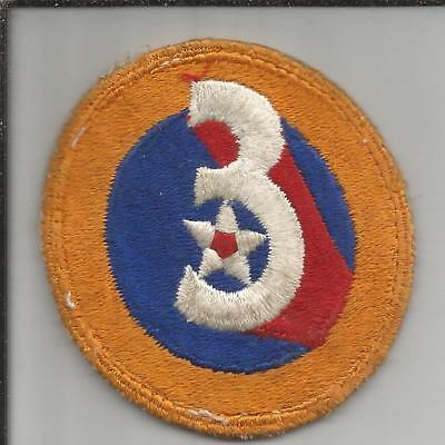 Off Uniform WW 2 US Army 3rd Air Force Patch Inv# JR748