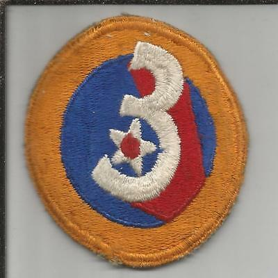 Off Uniform WW 2 US Army 3rd Air Force Patch Inv# JR751