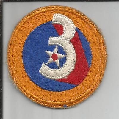 WW 2 US Army 3rd Air Force Patch Inv# JR760