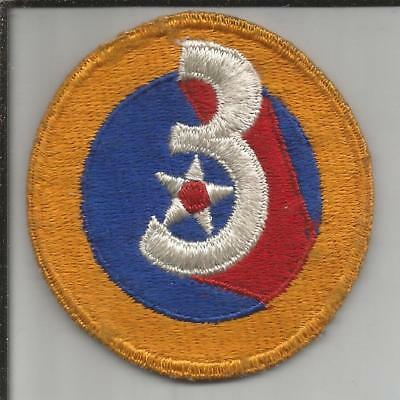 WW 2 US Army 3rd Air Force Patch Inv# JR765