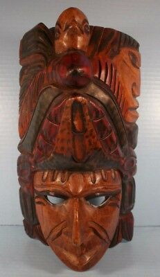 Carved Wood Ethnic Mask Stand or Hang
