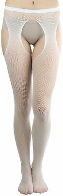 ToBeInStyle Women's Fishnet Suspender Seamless Pantyhose
