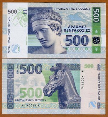 Greece, 500 Drachmas, 2014 Private Issue, Essay / Specimen UNC