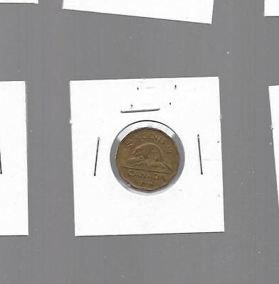 pk31365:Canada Coin - King George VI Tombac Nickel 5 Cents  1942