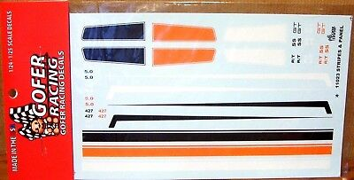 Gofer 11023 Stripes and Panels Decal Sheet 1/24 and 1/25