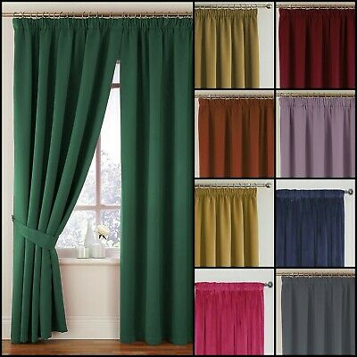 Montreal Lined Velour Soft Touch Tape Top Curtains Range - Free Postage