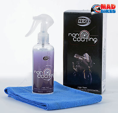 R&G Protective Nano Coating Motorcycle Cleaner + Microfibre Cloth In a Gift Box