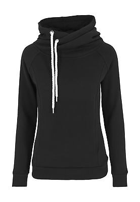 Urban Classics Ladies Raglan High Neck Hoody TB1076 Black