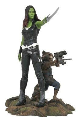 Guardians of the Galaxy Marvel Gallery PVC-Statue - Gamora & Rocket Raccoon