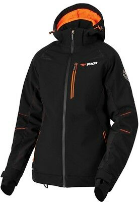 FXR Vertical Pro Insulated Womens Jacket Black/Electric Tangerine