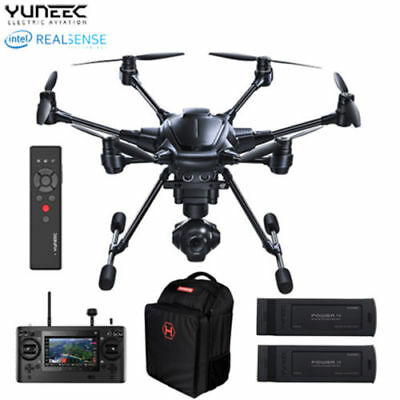 New 2017 - Yuneec Typhoon H Pro RealSense + Backpack & Extra Batteries Drone
