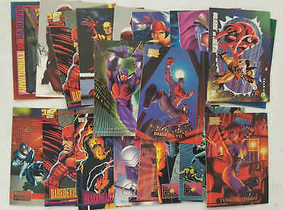 DAREDEVIL & ELEKTRA - set 20 trading cards