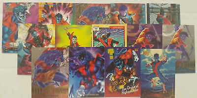 NIGHTCRAWLER - (X-MEN) - set 14 trading cards