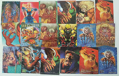 SABRETOOTH - (X-MEN) - 18 trading cards