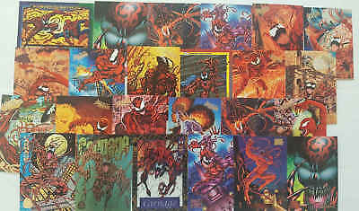 CARNAGE  (SPIDER-MAN) - 24 trading cards