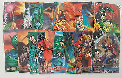 MARVEL VERSUS DC - set 20 trading cards