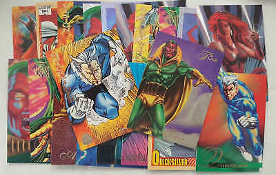 VISION, SCARLET WITCH & QUICKSILVER - set 20 trading cards