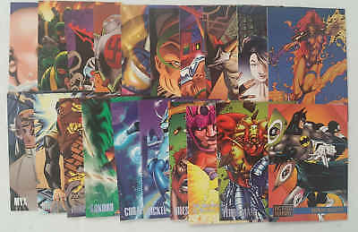 AMALGAM (MARVEL e DC) - set 20 trading cards