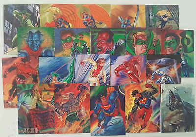 JUSTICE LEAGUE - set 20 trading cards