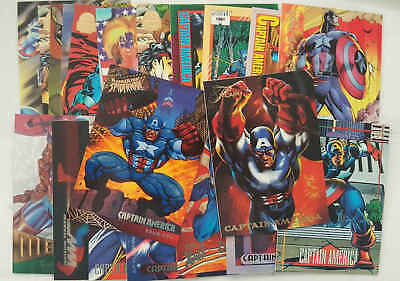 CAPTAIN AMERICA - set 20 trading cards