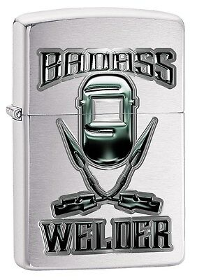 Zippo Lighter: Badass Welder - Brushed Chrome 78810