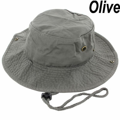 cd76e5806aa Mens Boonie Bucket Hat Cap Cotton Fishing Hunting Safari Summer Military  Oliver