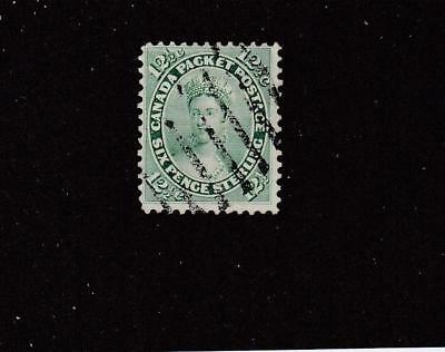CANADA # 18 FVF-LIGHT USED QUEEN VICTORIA 12.5cts CAT VALUE $80+