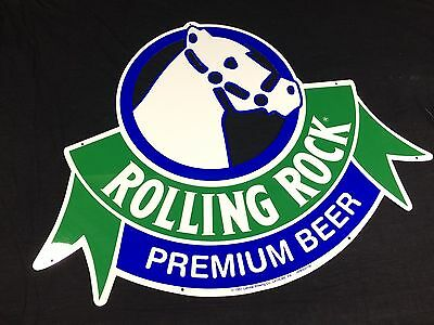 Rolling Rock Beer Sign Metal Tin Tacker New Old Stock Mint! Latrobe PA
