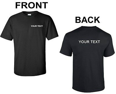 Custom Personalized T-Shirt Your Text Business Name Text Any Font Shirt S-2XL