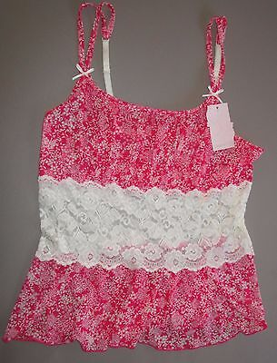 CABERNET~1X~4229~Raspberry Pink Floral Cheeky Goddess Camisole