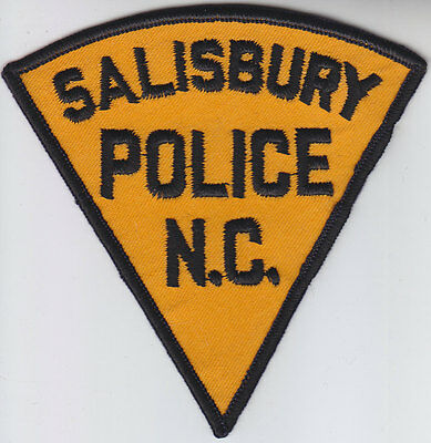 Salisbury NC North Carolina Police patch CHEESECLOTH BACK Orange & Black Version
