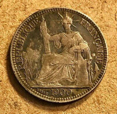 FRENCH INDO-CHINA  - 10 Cents - 1900 A - Small Silver Coin - FRANCE - INDOCHINE