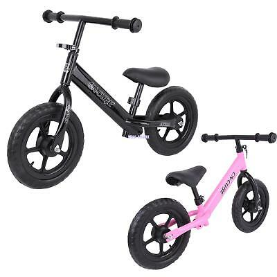 "12"" Kids Classic Balance Bike No Pedal Scooter Training Bicycle Pink /Black"