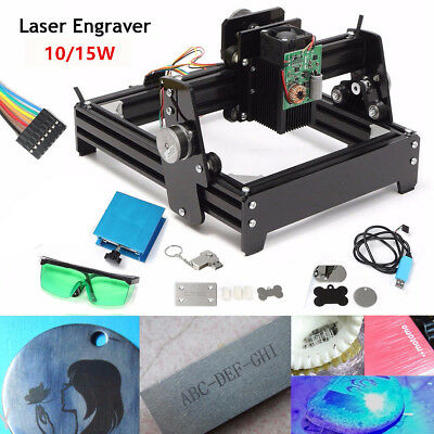 AU 10W / 15W USB DIY Laser Engraver Marking Carver Cutting Printer Machine Kit