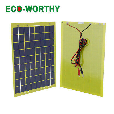 ECO Portable 10W Solar panel 10 Watt 12 V Garden Fountain laptop Battery Charger