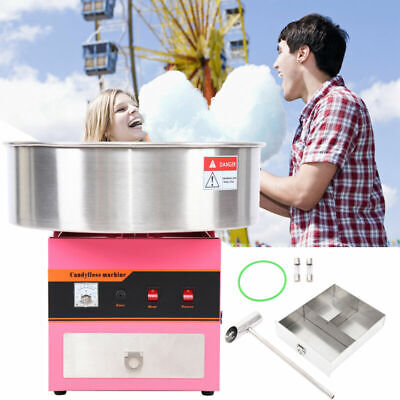 Full Electric Commercial Cotton Candy Fairy Floss Machine Street Party Snack