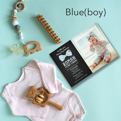 Personalised Photo Christening Baptism Invitations Naming Day Boy or Girl Invite