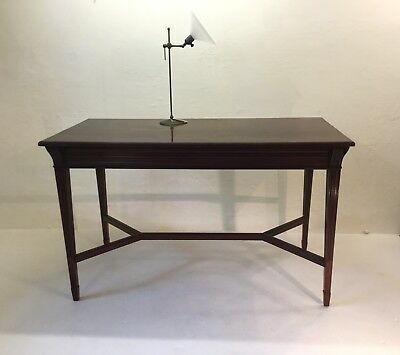 Antique Mahogany Library Table By Holland & Sons: Freestanding Or Console Table
