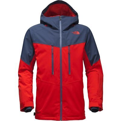 The North Face Men's CHAKAL Insulated Stretch Ski Jacket Centennial Red & Blue M