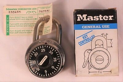 Master Lock Co Padlock #1525 New & Unused in Box with Combination 3 of 3